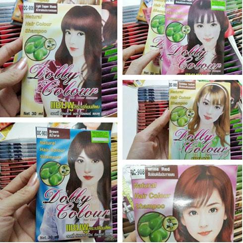 Thuốc Gội Nhuộm dolly colour Thái lan