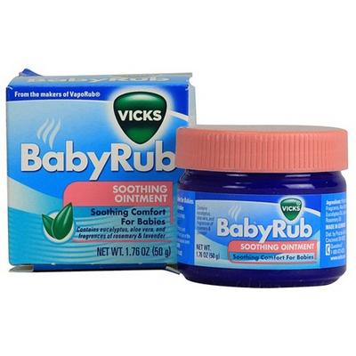 Dầu thoa giảm ho, sổ mũi, ngạt mũi cho trẻ Vick Baby Balsam