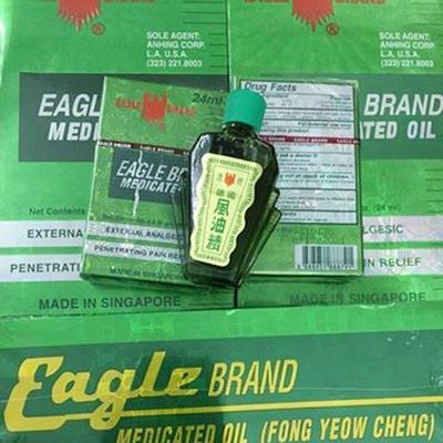 Dầu Gió Xanh 2 Nắp SingaPore Eagle Brand