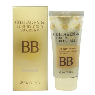 Kem nền che khuyết điểm Collagen & Luxury Gold BB Cream 3W CLINIC Hàn Quốc