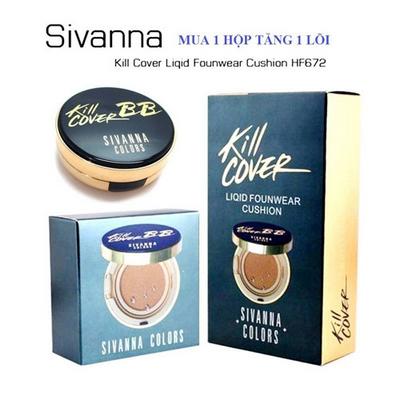 Phấn Nước Kill Cover Sivanna SPF50 PA Tặng Lõi