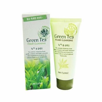 Sữa Rửa Mặt Green Tea 3W Clinic Hàn Quốc