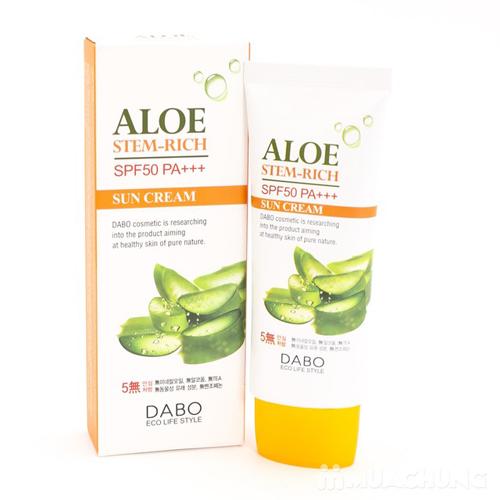 Kem Chống Nắng Lô Hội Dabo Aloe Stem – Rich Sun Cream SPF50 PA