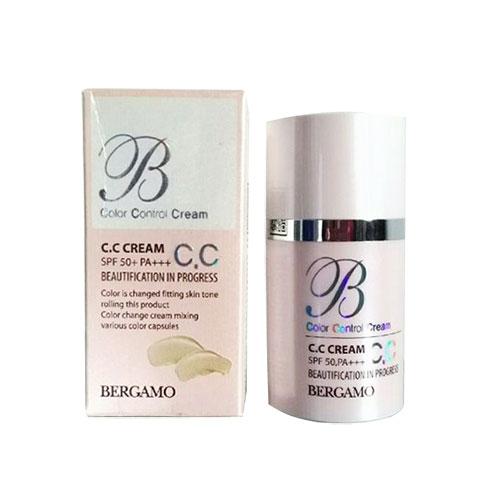 Kem Chống Nắng Trắng Da Che Khuyết Điểm Bergamo CC Cream SPF50 PA