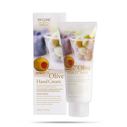 Kem Dưỡng Da Tay Olive Hand Cream 3W Clinic