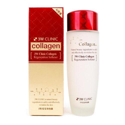 Nước Hoa Hồng Sạch Da 3W Clinic Collagen White