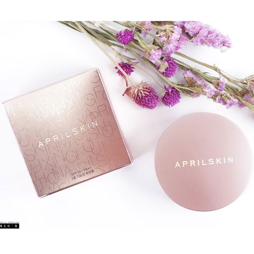 Phấn nước April Skin Magic Snow Cushion (pink) Hàn Quốc