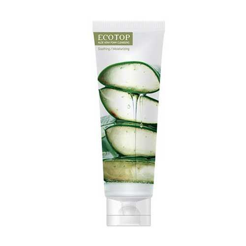 Sữa Rửa Mặt Nha Đam Ecotop Aloe Vera Foam Cleansing 120ml