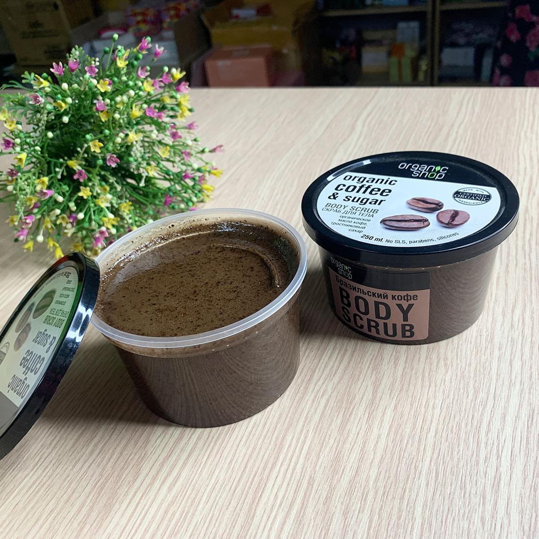 Tẩy Da Chết Toàn Thân Body Scrub Organic Coffee And Sugar Nga