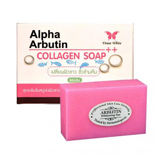 Xà Phòng Kích Trắng Alpha Arbutin Collagen Chính Hãng Thái Lan