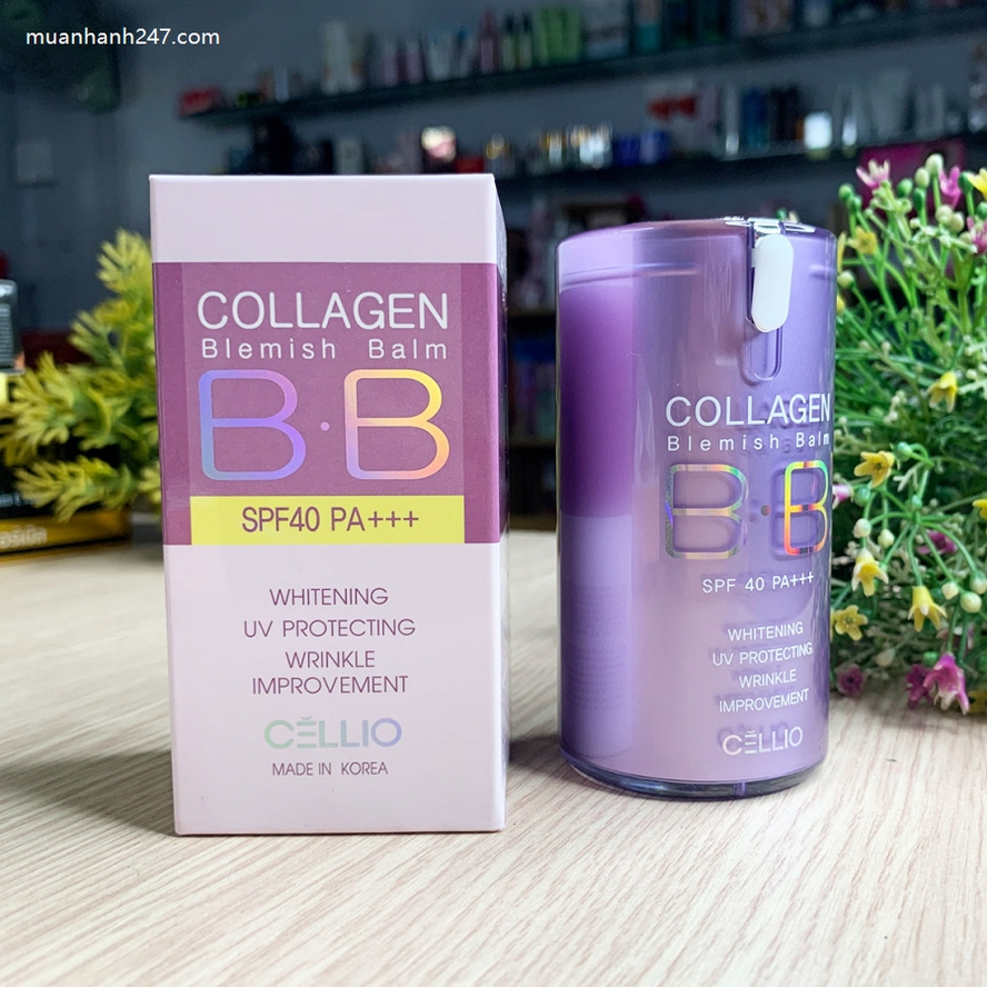 Kem nền Cellio Collagen Blemish Balm B.B SPF 40 PA+++-5